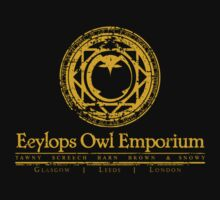 Eeylops Owl Emporium in Yellow T-Shirt