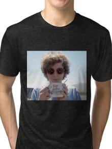 michael cera holding a mug Tri-blend T-Shirt