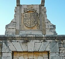 Fort at Chinchon, Spain - doorway detail by Michelle Falcony