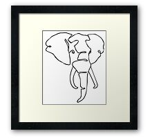 Wire Elephant Framed Print