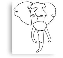 Wire Elephant Canvas Print