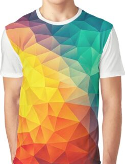 Abstract Multi Color Cubizm Painting Graphic T-Shirt