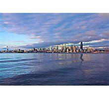 Seattle Skyline Cityscape Photographic Print