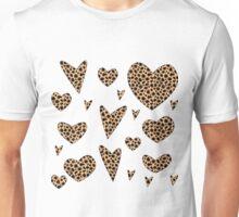 Hearts - Animal Print Unisex T-Shirt