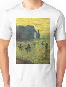 Claude Monet - The Cliffs At Etretat 1886 Unisex T-Shirt