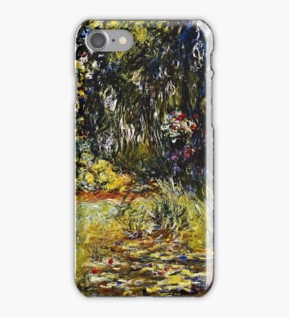 Claude Monet - Corner Of A Pond With Waterlilies  iPhone Case/Skin