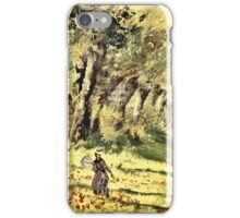 Claude Monet - Woman In The Forest  iPhone Case/Skin