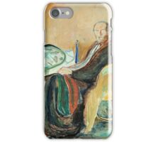 Edvard Munch - Self-Portrait With The Spanish Flu iPhone Case/Skin