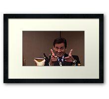 michael scott finger guns Framed Print