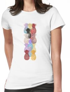 pineapple colorfull Womens Fitted T-Shirt