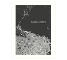 San Francisco in wireframe, alternate angle Art Print