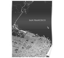 San Francisco in wireframe, alternate angle Poster