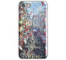 Claude Monet - The Rue Montorgueil Paris iPhone Case/Skin