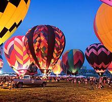 Balloon Glow - Midwest Balloon Fest by Paul Danger Kile