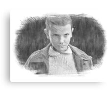 Eleven Sketch Stranger Things Canvas Print