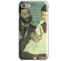 Edgar Degas - Comte Le Pic And His Sons iPhone Case/Skin