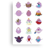 Shades of Lumpy Space Princess Canvas Print