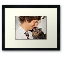 michael cera and a dog Framed Print