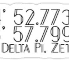 ADPi Zeta Iota Coordinates  Sticker