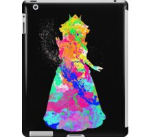 Princess Peach Paint Splatter White iPad Case/Skin