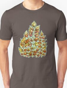 Hand drawn watercolor  golden leaves Unisex T-Shirt