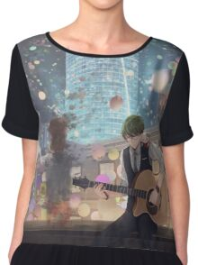 Alone In The City Of Night Chiffon Top