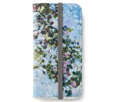 Claude Monet - Roses 1825  iPhone Wallet/Case/Skin