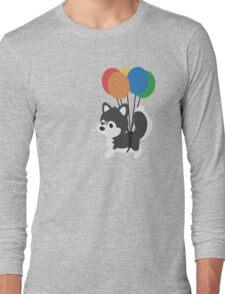 Balloon Husky Long Sleeve T-Shirt