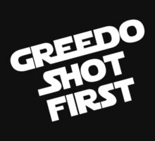 Greedo Shot First One Piece - Short Sleeve