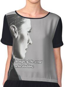 Kate Beckett weight of the world Chiffon Top