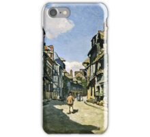Claude Monet - Rue De La Bavolle, Honfleur 1864  iPhone Case/Skin