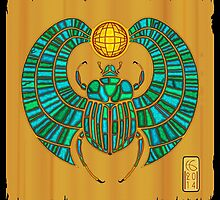 Scarab On Papyrus  by Hamish Graham