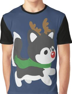 Reindeer Husky Graphic T-Shirt
