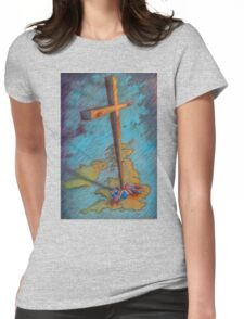 The Cross and the Union Jack Womens Fitted T-Shirt