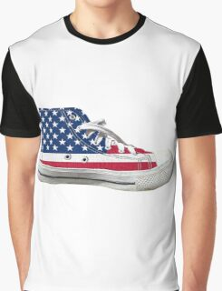 Hi Top Basketball Shoe United States Graphic T-Shirt