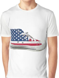 Hi Top Basketball Shoe United States Graphic T-Shirt