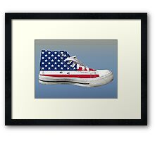 Hi Top Basketball Shoe United States Framed Print