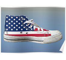 Hi Top Basketball Shoe United States Poster