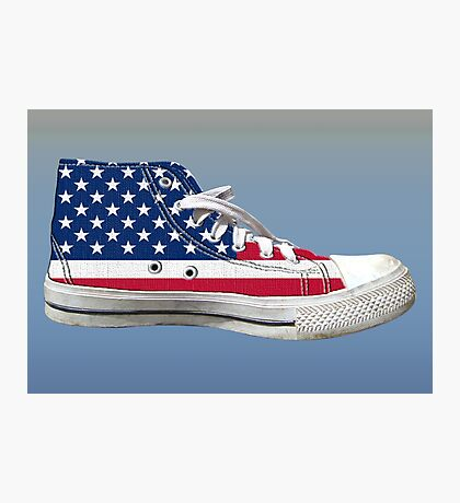 Hi Top Basketball Shoe United States Photographic Print