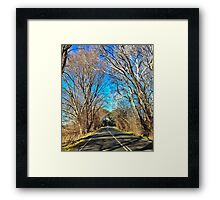 Country Drive Framed Print