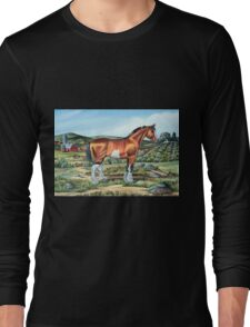 CLYDESDALE.......(on craft foam) Long Sleeve T-Shirt