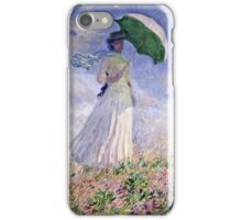 Claude Monet - Woman With A Parasol Turned To The Right 1886  iPhone Case/Skin