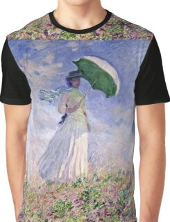 Claude Monet - Woman With A Parasol Turned To The Right 1886  Graphic T-Shirt