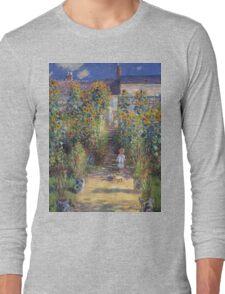 Claude Monet - The Artist S Garden At Vetheuil 1881 Long Sleeve T-Shirt