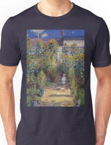 Claude Monet - The Artist S Garden At Vetheuil 1881 Unisex T-Shirt