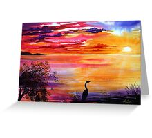 Colours of Sunset   Greeting Card