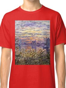 Claude Monet - Marine View With A Sunset 1875  Classic T-Shirt