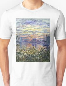Claude Monet - Marine View With A Sunset 1875  Unisex T-Shirt