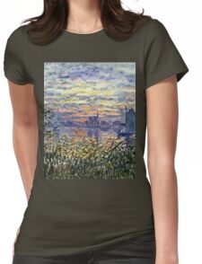 Claude Monet - Marine View With A Sunset 1875  Womens Fitted T-Shirt