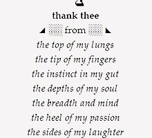 Thanking Thee by BerylDov